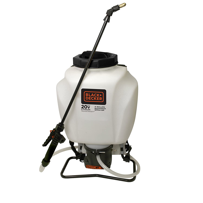 Chapin 63980 Black & Decker 4-Gallon Wide Mouth Battery Sprayer Backpack, 20-Volt