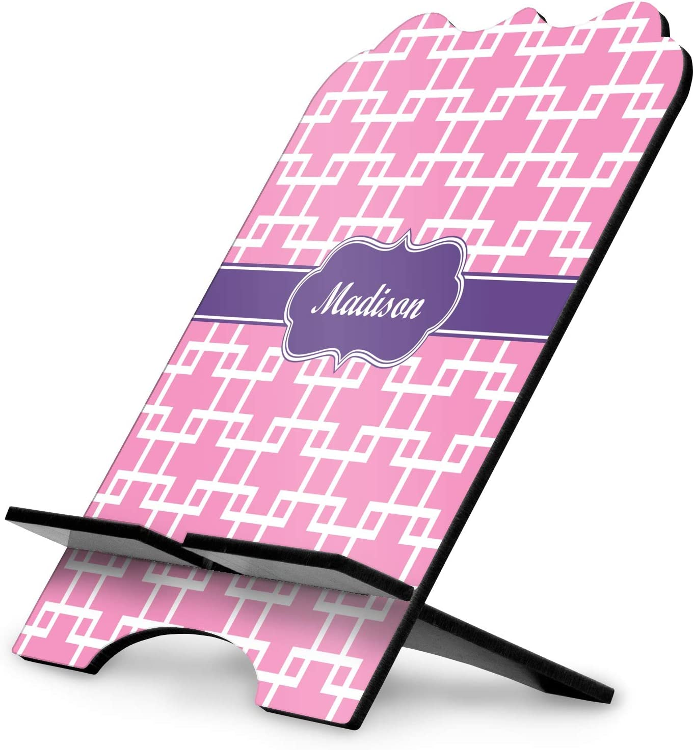 YouCustomizeIt Linked Squares Stylized Tablet Stand Personalized