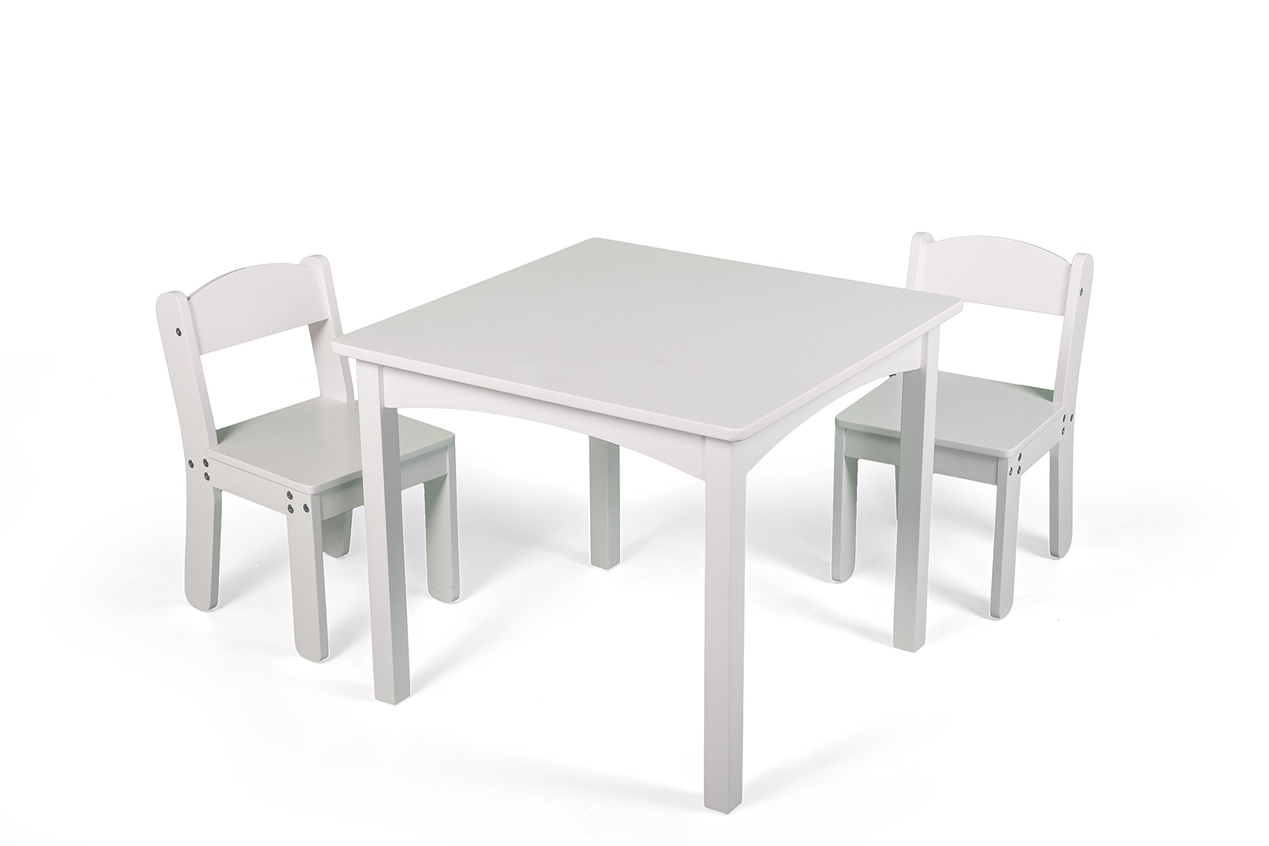 WonkaWoo Kids Deluxe Table & Chair Set, White, One Size