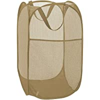 Larpur Popup Mesh Laundry Basket, Collapsible and Portable Clothes Washing Laundry Hamper with Reinforced Carry Handle…