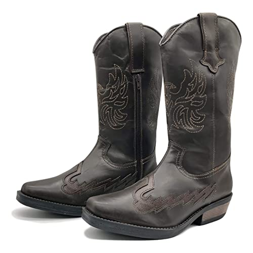 fe3907104aa CityStyle4You New Mens Cowboy Leather Ankle Biker Western Boots