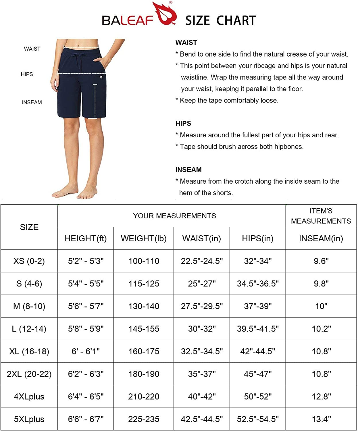 "BALEAF Women's 10"" Athletic Bermuda Cotton Shorts Walking Sweat Jersey Long Shorts Casual Activewear with Elastic Waist : Clothing"
