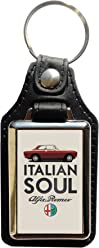 Keyring Öko-Leder Alfa Romeo Jahrgang (5° version)