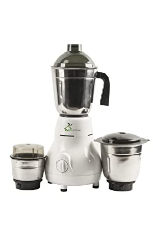 GTC Green Home Matka Mixer Grinder 450w With 3 Stainless steel Jar (White)(1 Year Seller Warranty)
