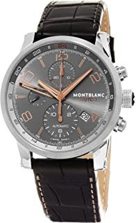 Montblanc Mens 107063 Timewalker Analog Display Swiss Automatic Brown Watch