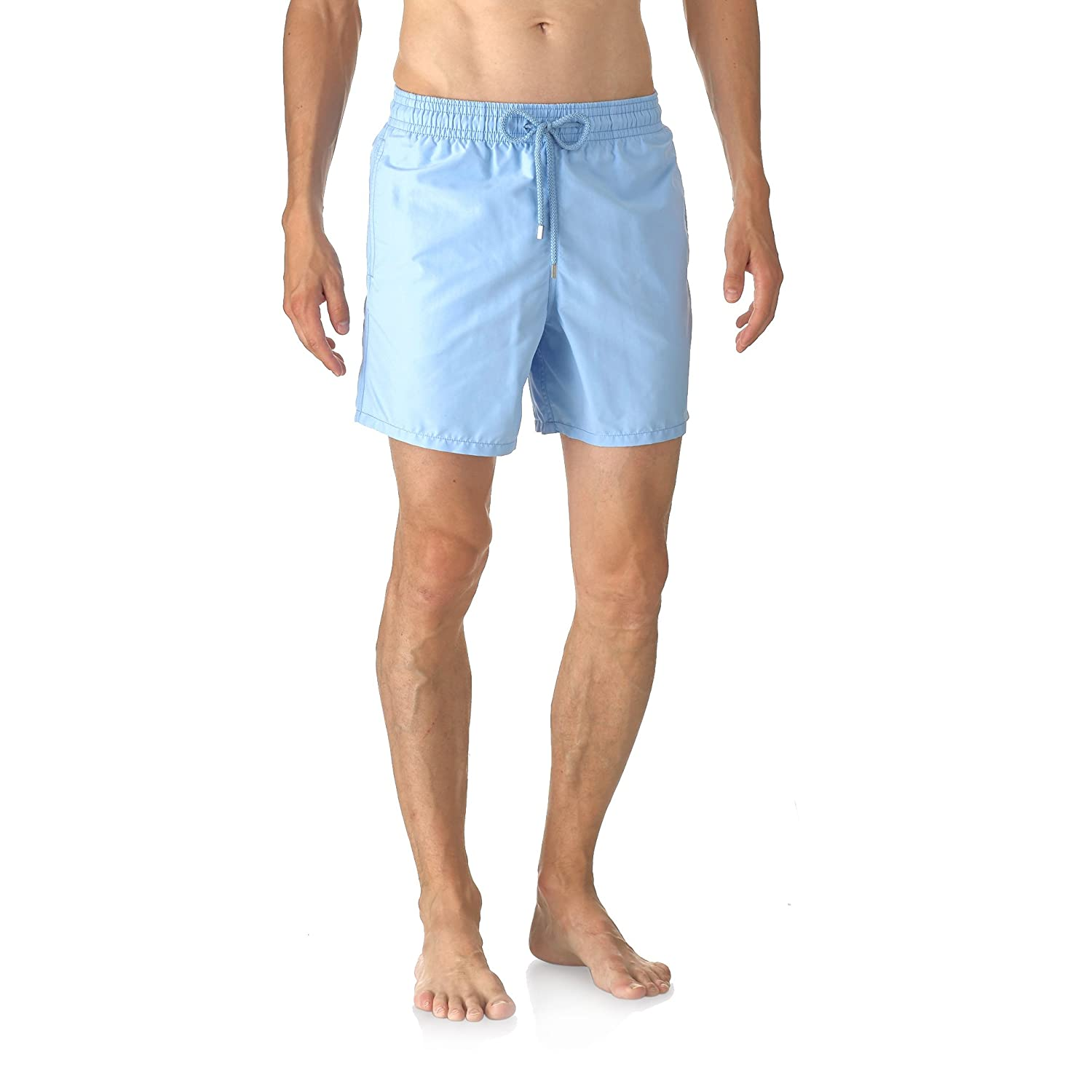 VILEBREQUIN - Swimming Trunks - Men - Plain Sky-Blue Moorea Swim Shorts for men