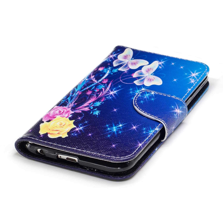 Cover LG K10 2017 Multifunzione Portafoglio Cover per LG K10 2017 con Funzione Supporto CAXPRO/® Custodia in Pelle e TPU Albero Chiusura Magnetica