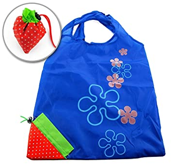 RuiChy Strawberry Nylon Foldable Reusable Shopping Bags: Amazon.co ...