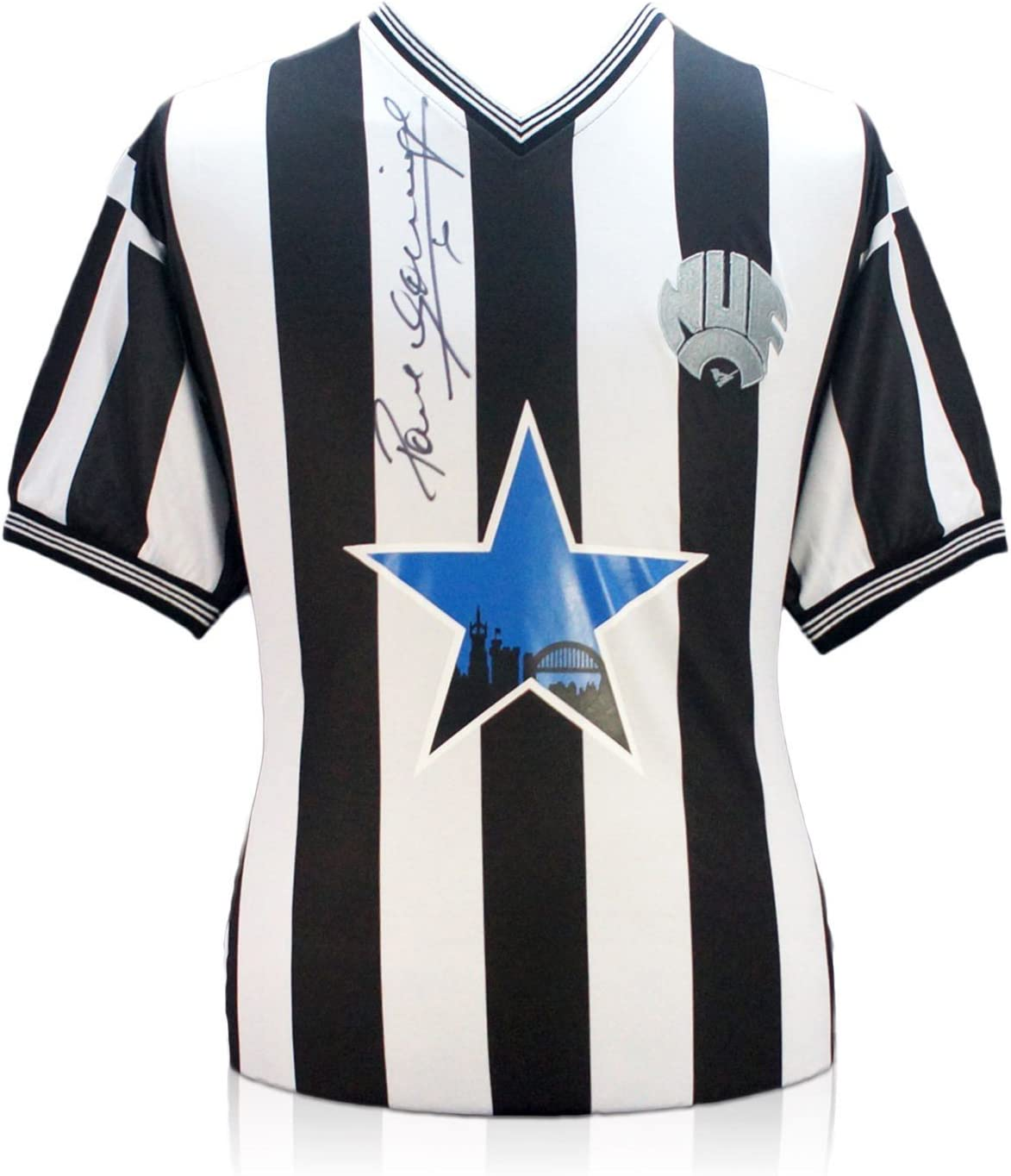 exclusivememorabilia.com Paul Gascoigne Firmado camiseta de Newcastle United: Amazon.es: Deportes y aire libre
