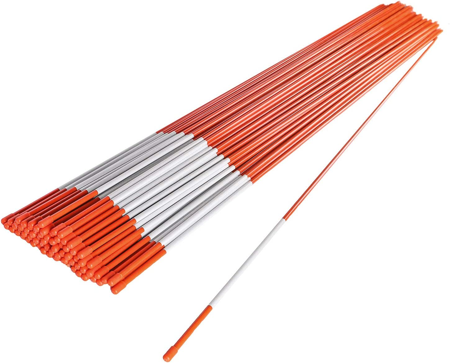 """Driveway Markers Snow Plow Stakes 5//16/"""" Package of 20 4 foot"""