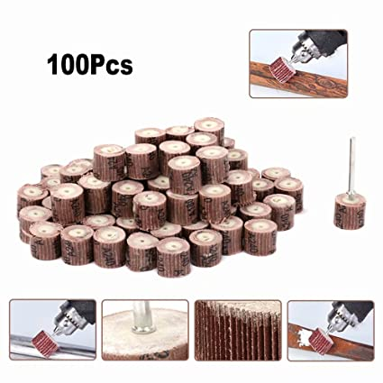 5Pcs 50mm Flap Sanding Wheel Sandpaper Flap Disc Set 6mm Shank Power Rotary Tools for Deburring and Blending of Flat and Contoured Surfaces