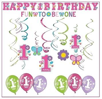 Libetui Primer cumpleaños decoración Set Parejita Niña Happy ...