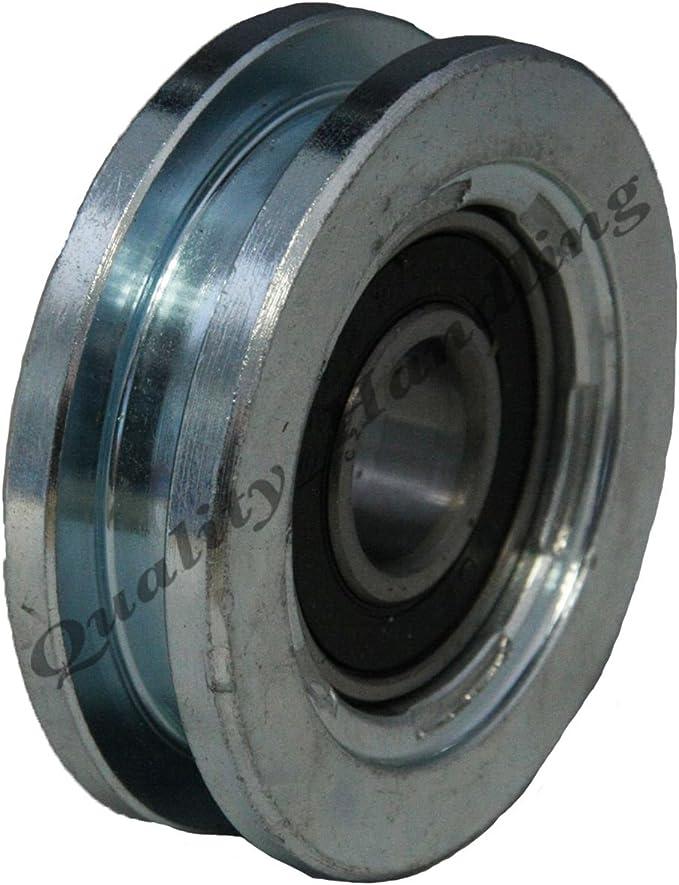 Rueda de puerta corredera rueda de la rueda 60 mm Rueda de acero cuadrado de la rueda de acero en forma de U: Amazon.es: Coche y moto