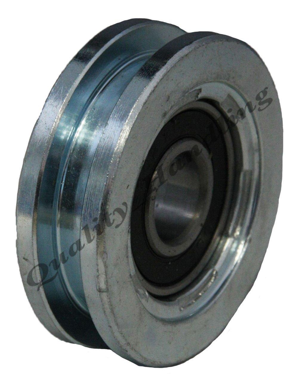 Parnells sliding gate wheel pulley wheel 60mm Square groove steel wheel U shape IBFM