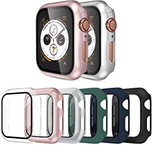 OMEE 6-Pack 42mm Case Compatible Apple Watch Series 2/3 Case with Screen Protector Accessories Slim Guard Thin Bumper Full Coverage Matte Hard Cover Defense Edge for Women Men New Gen GPS iWatch