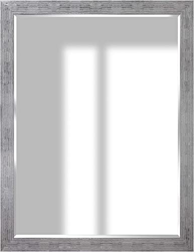 Everly Hart Collection Textured Framed Wall Mounted or Leaner Mirror