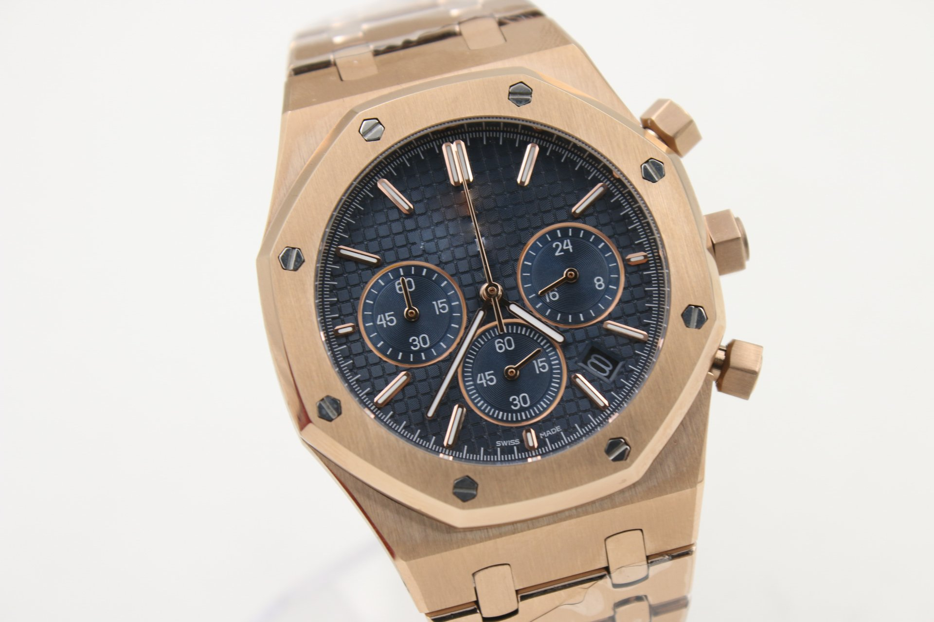 My_TimeZone Luxury Brand Top quality stainless steel Gold color Japanese quartz chronograph watch watches