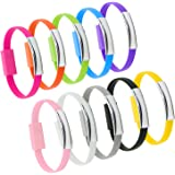 OKRAY Mini Flat Bracelet Micro USB 2.0 Sync and Charging Data Cable, 0.72 ft - 10 Pack