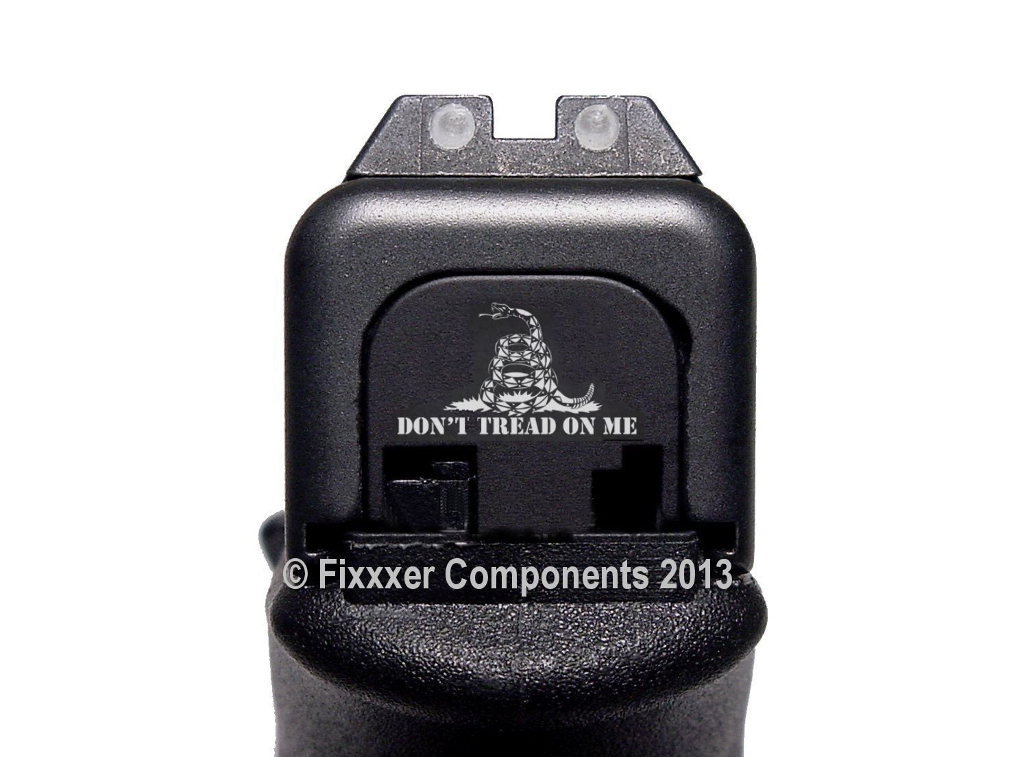 FIXXXER Rear Cover Plate for Glock (Molon Labe Helmet Design) Fits Most Models (Not G42, G43) and Generations (Not Gen 5)