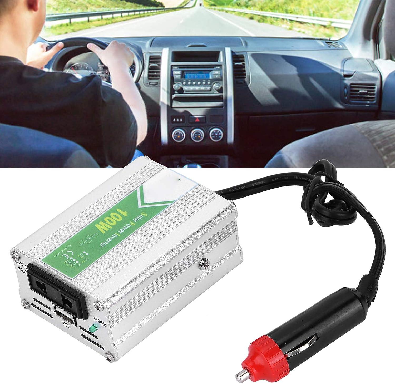 Onduleur de Voiture 100 W Haute r/ésistance 12 V /à 220 V pour la Surveillance en Temps r/éel de la Voiture avec onduleur de Voiture indicateur LED
