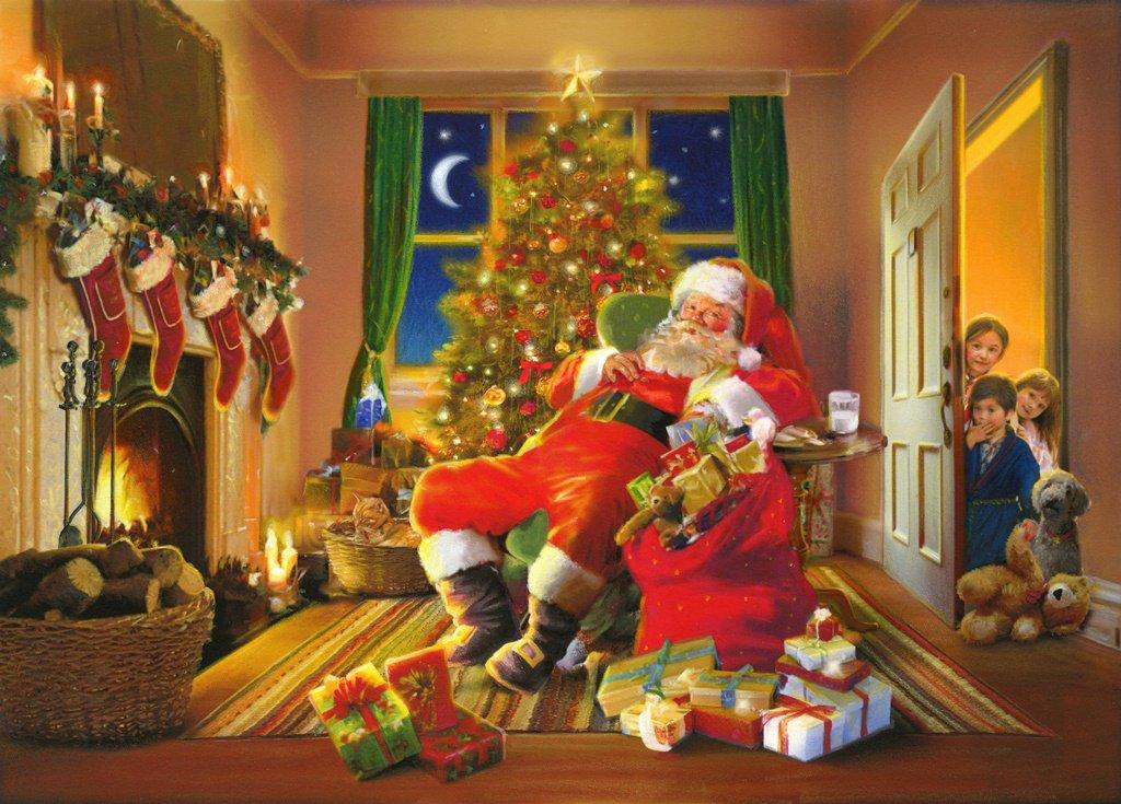 Ravensburger Santas Caught 1000 Piece Christmas Puzzle 19038