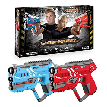 Laser Tag 2 Player Lazer Shooting Game Blaster Official Game New