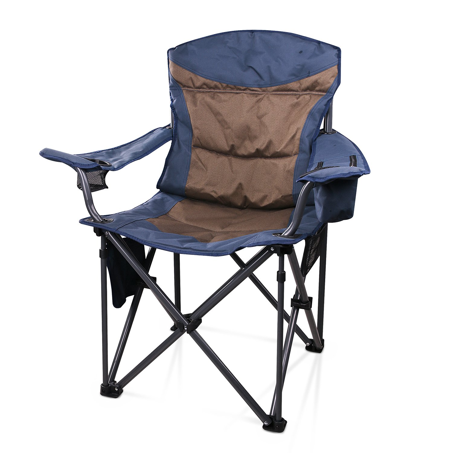 JQ JQ Portable Stable Folding Camping Chair with Carry Bag support up to 660 Ib, Blue