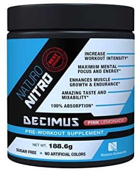 Nature Nitro Pre Workout Decimus Powerful Pre workout - Best Pre Workout Energy Supplement for Women