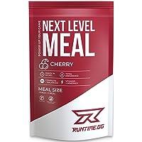 Runtime Next Level Meal - vollwertiger Mahlzeitersatz für langanhaltende Sättigung, Energie, Konzentration und Leistungsfähigkeit, mit Vitaminen und Nährstoffen, 1 Portion (150g) (Cherry)