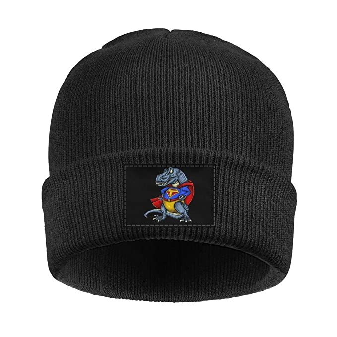 Amazon.com  Beanie for Women Men Unisex Super T-Rex Dinosaur Superhero Warm  Winter Knit Beanies Hats  Clothing 722bd1669c4
