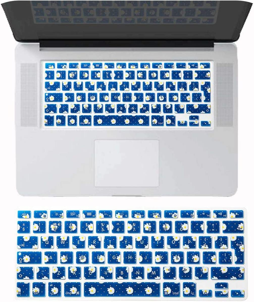 EU Enter English Alphabet Silicone Keyboard Film Skin Cover for Old MacBook Pro 13 15 Inch Retina Cd ROM Air 13 A1466-Pattern 5