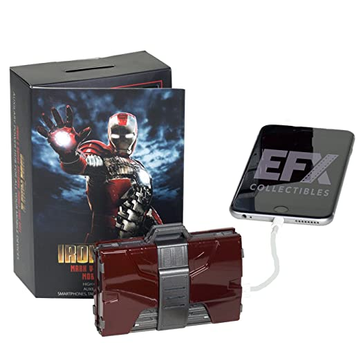 Iron Man Mark V Armor Suitcase Mobile Battery Charger