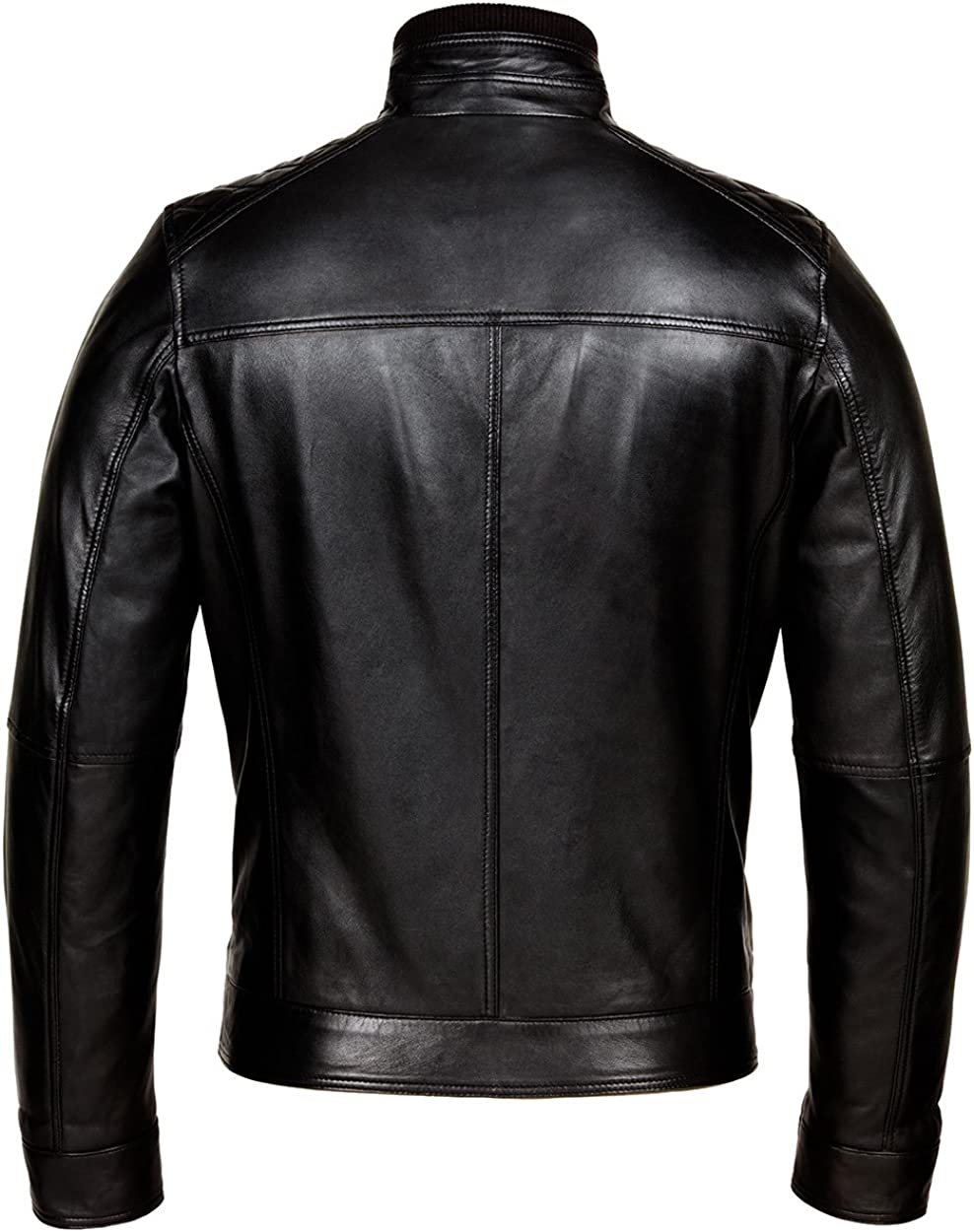 Classic Cafe Racer Leather Jacket Mens Genuine Leather Jackets