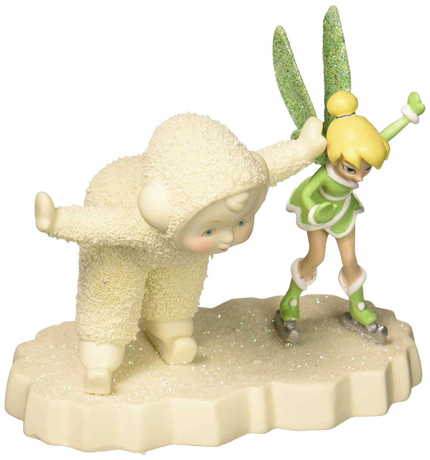 Department 56 Snowbabies and Disney Skating with Tinker Bell Porcelain Figurine, 4