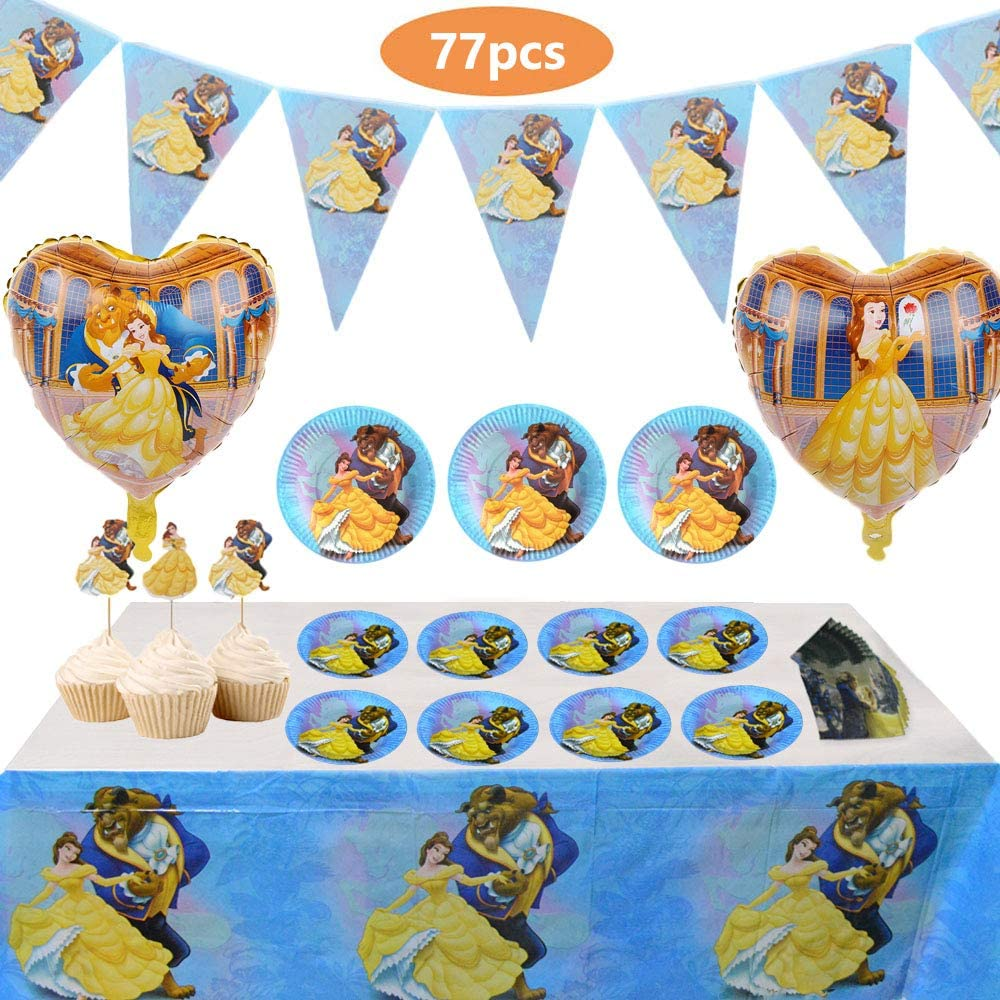 BEAUTY /& THE BEAST Disney Movie Birthday Party Balloons Decoration Supplies Rose