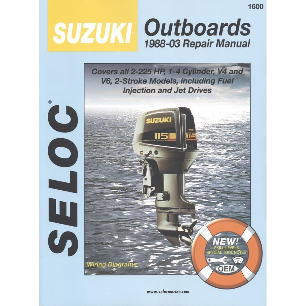 Suzuki Outboard 1988 1999 2 225 Hp Repair Manual 0 Engine Diagram Manufacturer Electronics