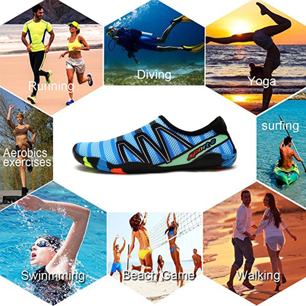 Z-Dawn Water Shoes for Mens Womens Barefoot Beach Swim Pool Aqua Shoes for Surf Yoga Exercise