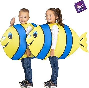 My Other Me Disfraz de Pez Amarillo y Azul para niños: Amazon.es ...