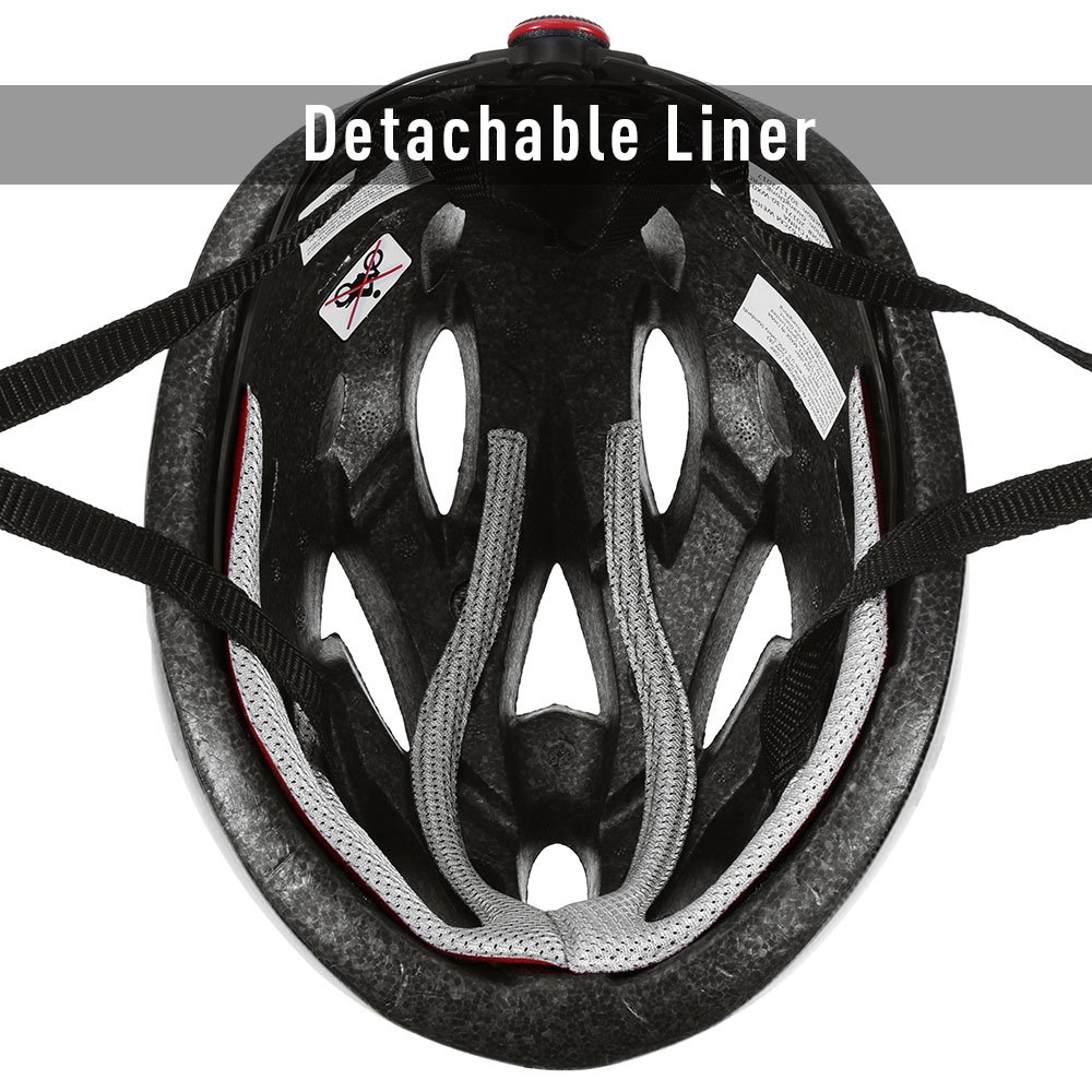 Zacro Lightweight Bike Helmet, CPSC Certified Cycle Helmet Adjustable Thrasher for Adult with Detachable Liner with Water and Dust Resistant Cover, Grey by Zacro (Image #7)