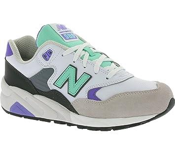 New Balance WRT580-PB-B Sneaker Damen, weiß, weiß / mint / lila