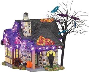Department 56 Snow Village Halloween The Bat House Lit Building, 9 inch, Multicolor
