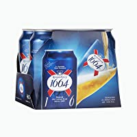 Kronenbourg 1664 Lager Can, 330ml, (Pack of 4)