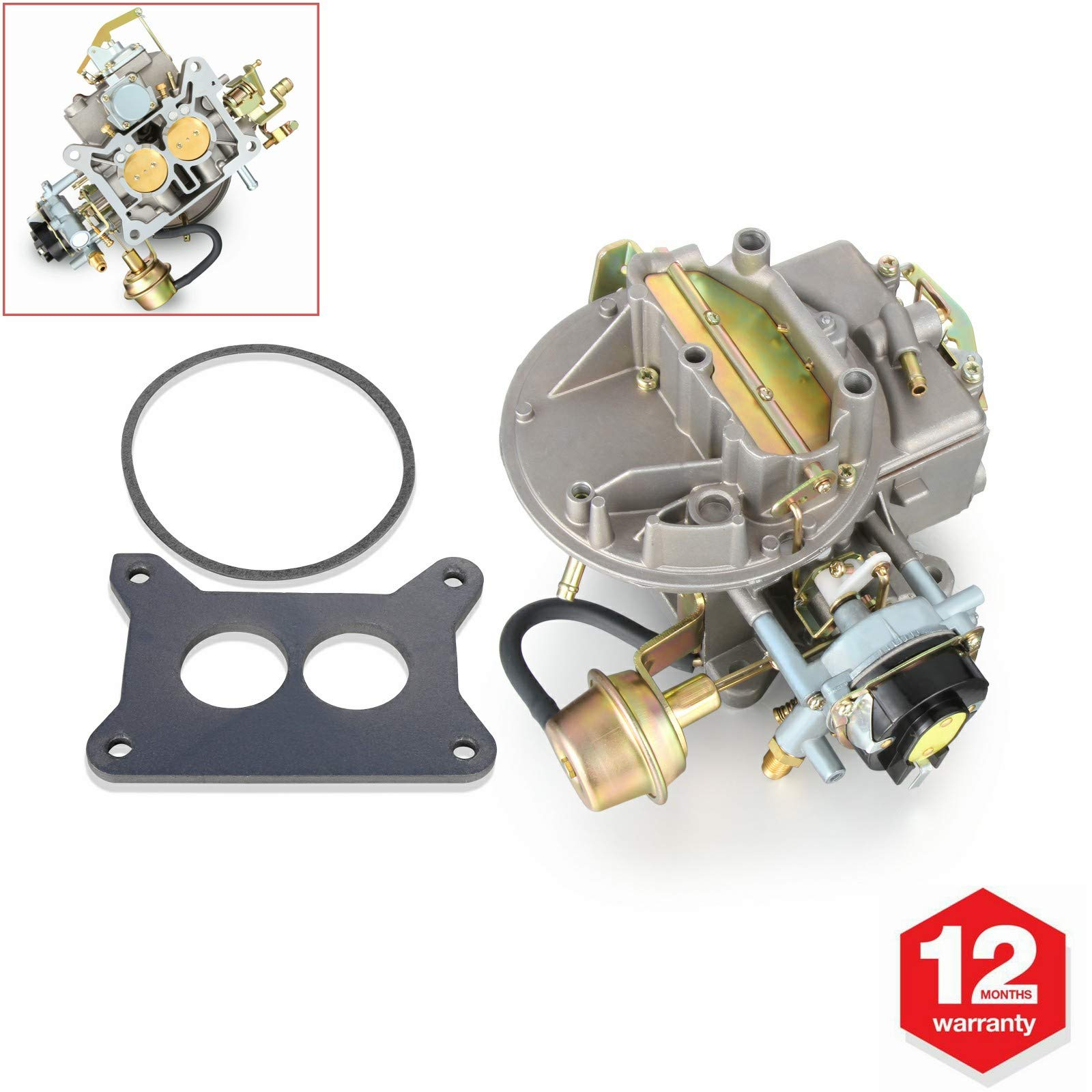 Twilight Garage 2 Barrel Carburetor Carb 2100 A800 For Ford 289 302 351 Cu Jeep 360 Engine (Automatic Choke)