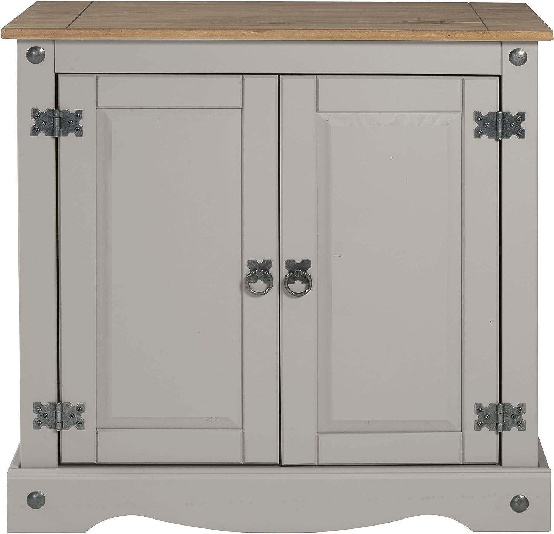 Mercers Furniture Trade Corona Grey Wax 2 Door Sideboard
