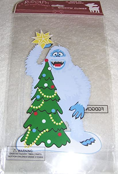 rudolph bumble the snow monster jelz window clings christmas decoration