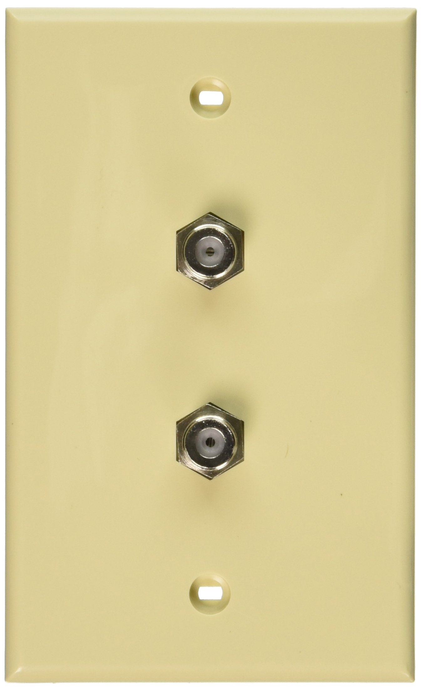 Leviton 40982-I Standard Video Wall Jack, F X F, Ivory