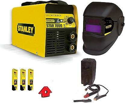 Stanley - 7000 - Equipo de soldadura inverter de 200 A con máscara y juego de