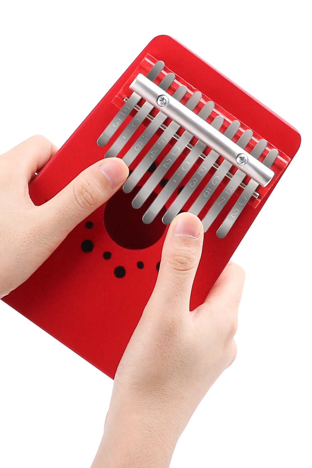 Kalimba 10 Keys Thumb Piano,Finger Piano African Instrumentin Pocket Size for Beginners and Children TWFRIC
