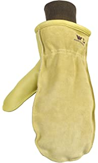 f001f7a01aa15 Amazon.com: Firm Grip Fleece Gloves With Deerskin Suede Palm & 40G ...