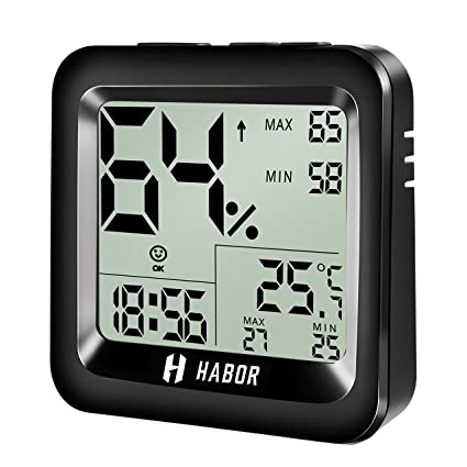Amazon.com : Habor Digital Hygrometer Indoor Thermometer High ...